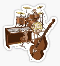 Funky Monkey Band Sticker