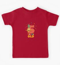 Five Years fifth Birthday Party Pineapple Rihy2 Kids Tee