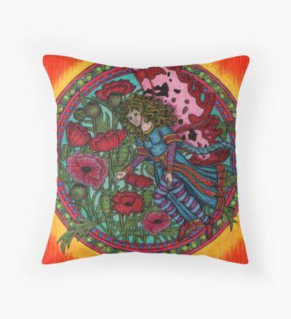 The Poppy Fairy Throw Pillow