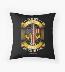 It Is For Freedom That Christ Has Set Us Free Throw Pillow