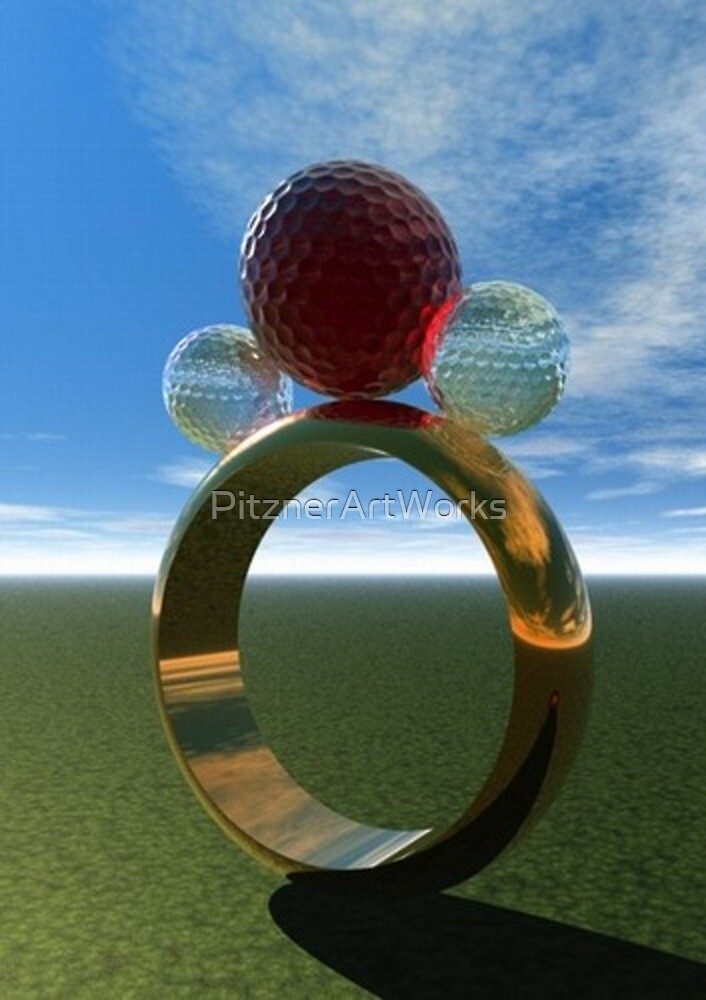 GOLF RING by PitznerArtWorks