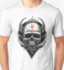 Gothic Style Skull with Horns Unisex T-Shirt