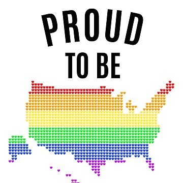 Proud to be American - Gay Pride White by athaikdin