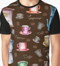 Coffee Pattern Graphic T-Shirt