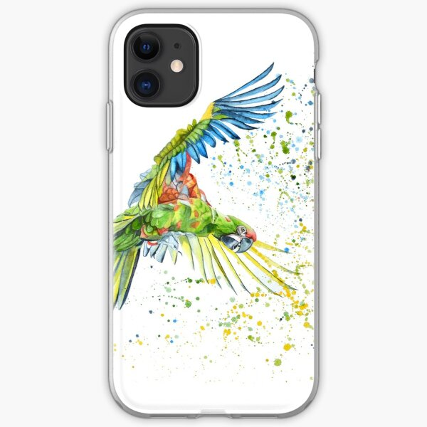 Watercolor of Parrot iPhone Soft Case