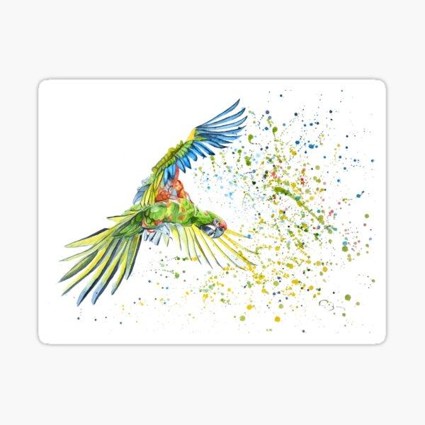 Aquarelle de Perroquet Sticker