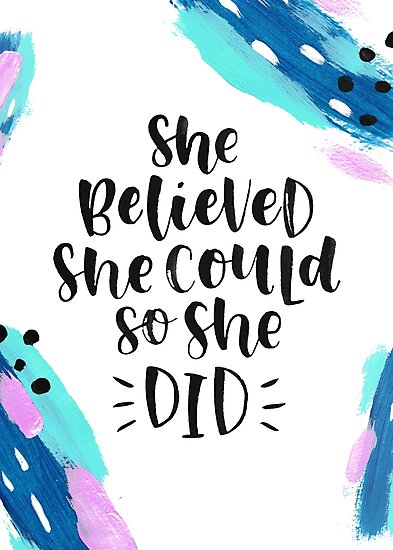 She believed she could, so she did by Carmia Cronjé