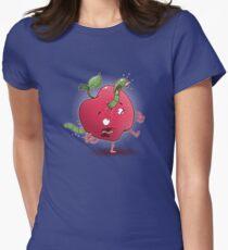 APPLE ALIEN Womens Fitted T-Shirt