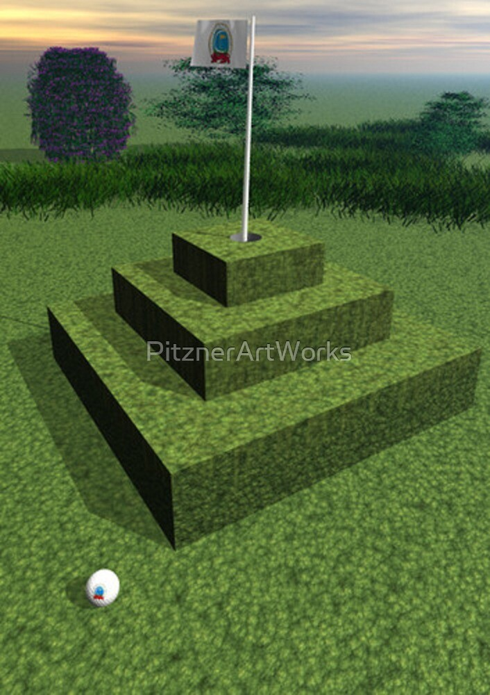 PYRAMID GREEN by PitznerArtWorks