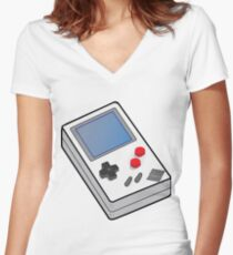 Gameboy Old School Women's Fitted V-Neck T-Shirt