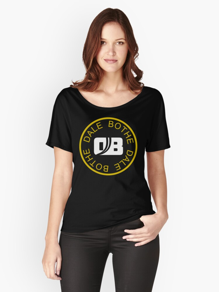 Dale Bothe LOGO - Gold and White on BLACK Women's Relaxed Fit T-Shirt Front