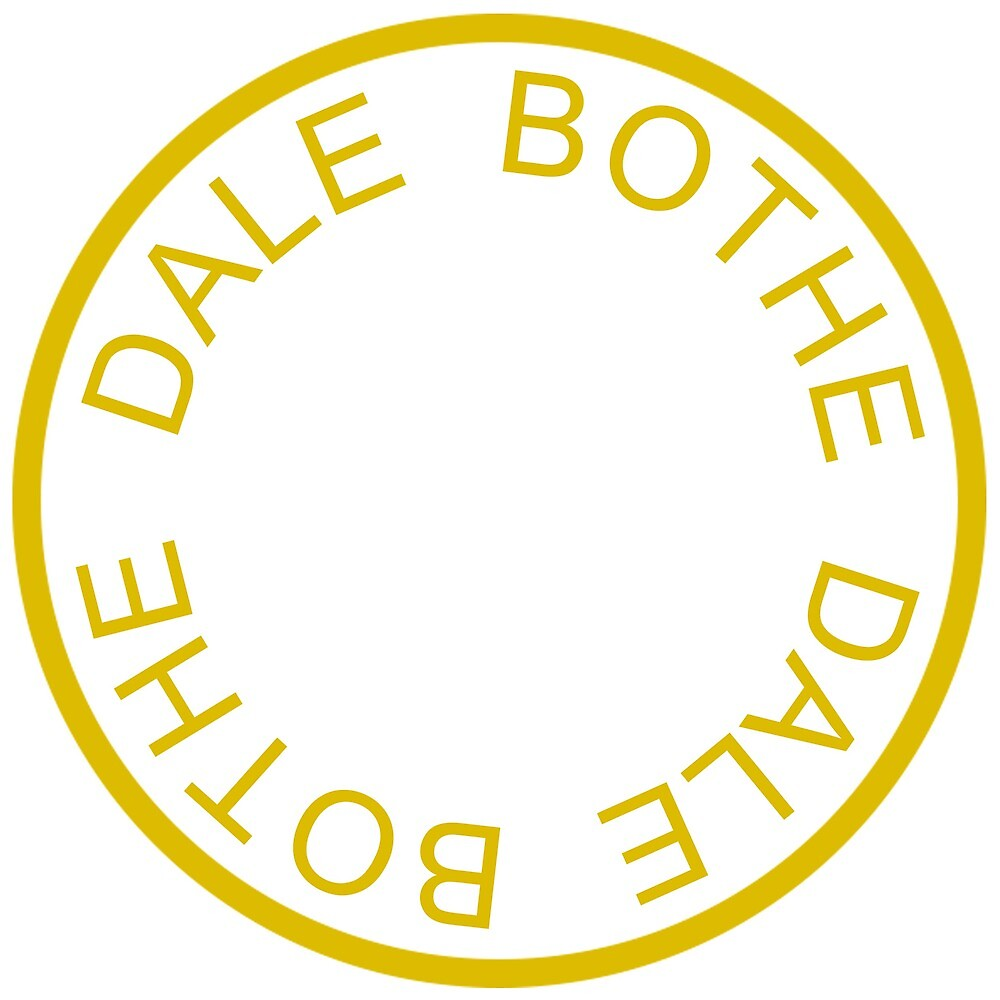 Dale Bothe LOGO - Gold and White on BLACK by Cubeyy