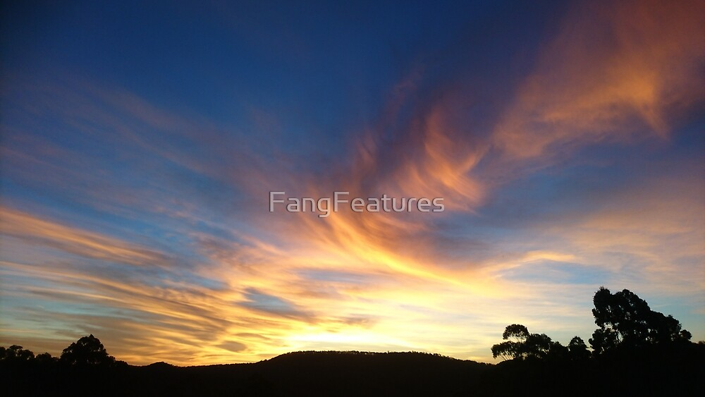 Colourful Sunset. by FangFeatures