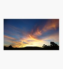 Colourful Sunset. Photographic Print