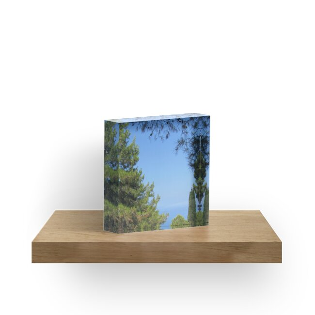 Pine tree, sea and sky landsape by designer437