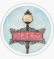 Metro - Paris Sticker
