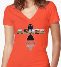 2017-18 Ashes Venues Women's Fitted V-Neck T-Shirt