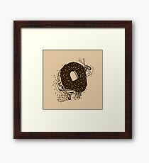 Donut Run with Scissors Framed Print