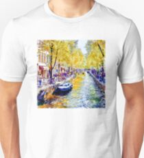 Amsterdam Canal watercolor Unisex T-Shirt
