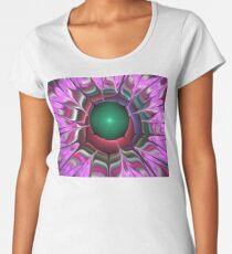 Lilac Red Petals Women's Premium T-Shirt
