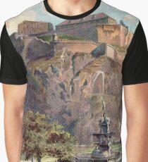Edinburgh Castle - vintage print Graphic T-Shirt