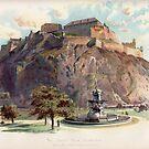 Edinburgh Castle - vintage print by Boxzero