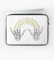 Louis Double Rainbow Hands Laptop Sleeve