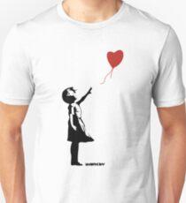 Banksy Girl Red Balloon Unisex T-Shirt