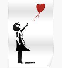Banksy Girl Red Balloon Poster