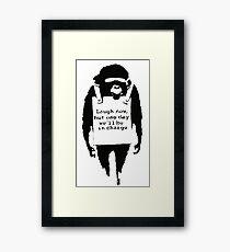 Banksy - Monkey Framed Print