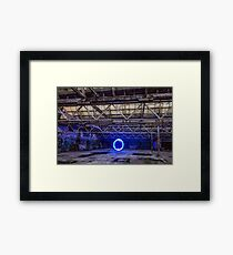 Light Painting at an abandoned warehouse in Yarraville, Victoria, Australia. Framed Print