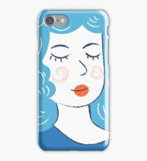 Cute girl art. Modern hipster style.  iPhone Case/Skin