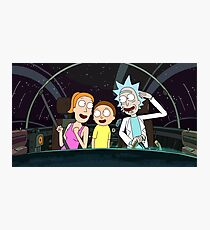 Rick & Morty & Summer (Rick and Morty) Design Photographic Print