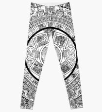Aztec Calendar Leggings