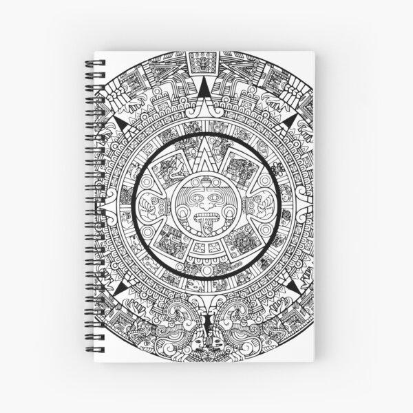 Aztekischer Kalender Spiralblock