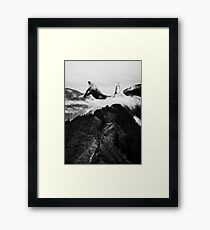 Magic place Black and white Framed Print