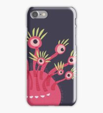 Funny Pink Monster With Eleven Eyes iPhone Case/Skin