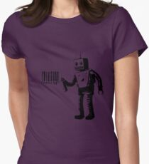 Banksy Robot Womens Fitted T-Shirt