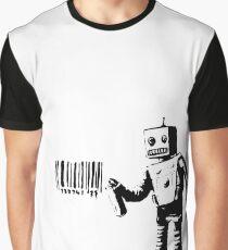 Banksy Robot Graphic T-Shirt