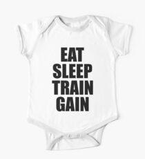 Eat Sleep Train Gain - Gym Fitness One Piece - Short Sleeve