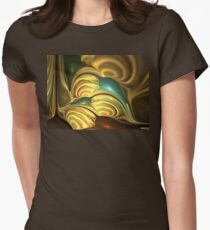 Gold Seashells Womens Fitted T-Shirt
