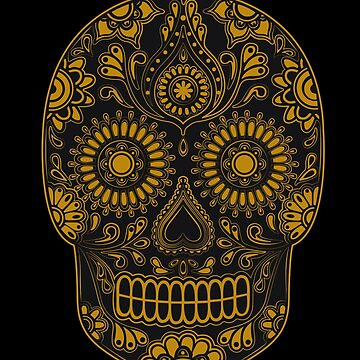 """Calavera"" Digital Illustration by 0990dav"