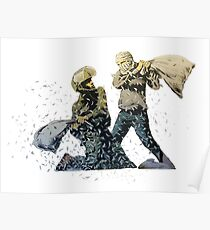 Banksy Pillow Fight Poster