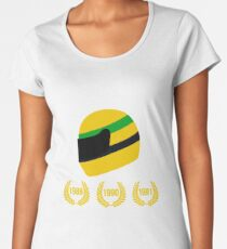 AYRTON SENNA THE 3 TIMES WORLD CHAMPION Women's Premium T-Shirt