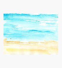 Sunny beach || watercolor Photographic Print