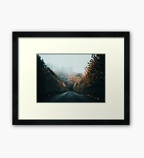 Cold Autumn Road Framed Print