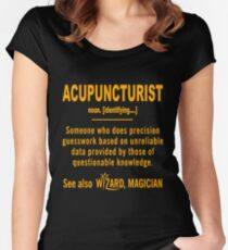 ACUPUNCTURIST DEFINITION Women's Fitted Scoop T-Shirt