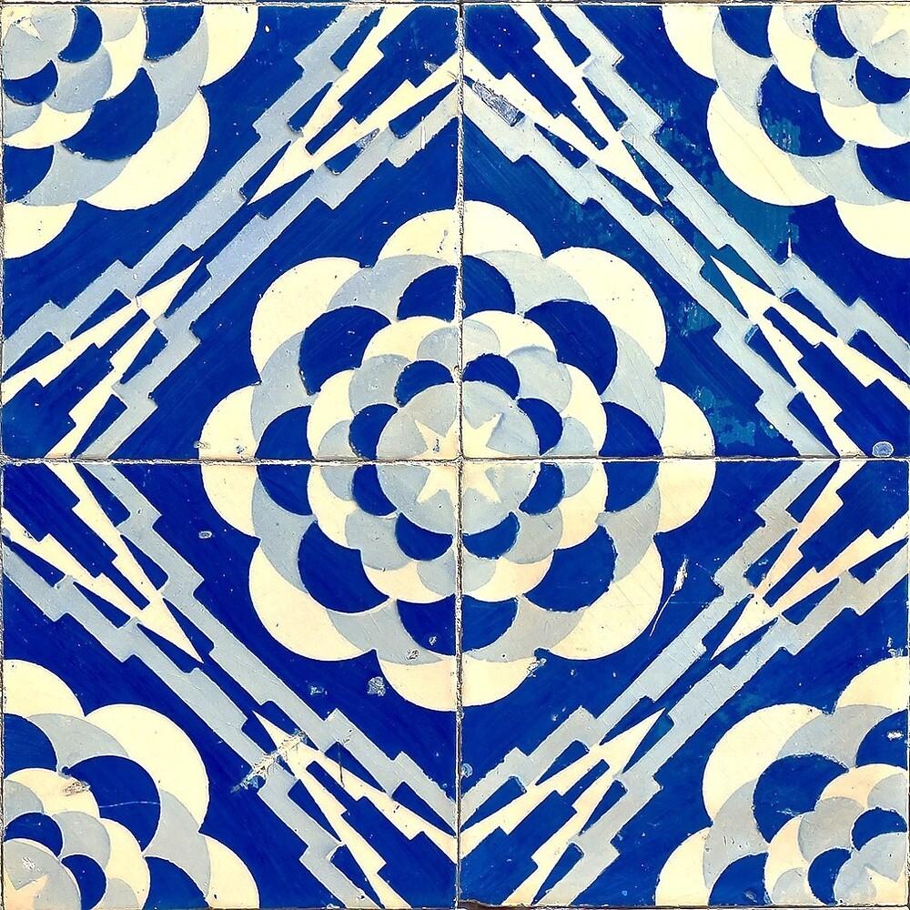 Portuguese Tile Blue by urbanizze
