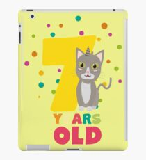 Seven Years seventh Birthday Party Cat Rkp39 iPad Case/Skin