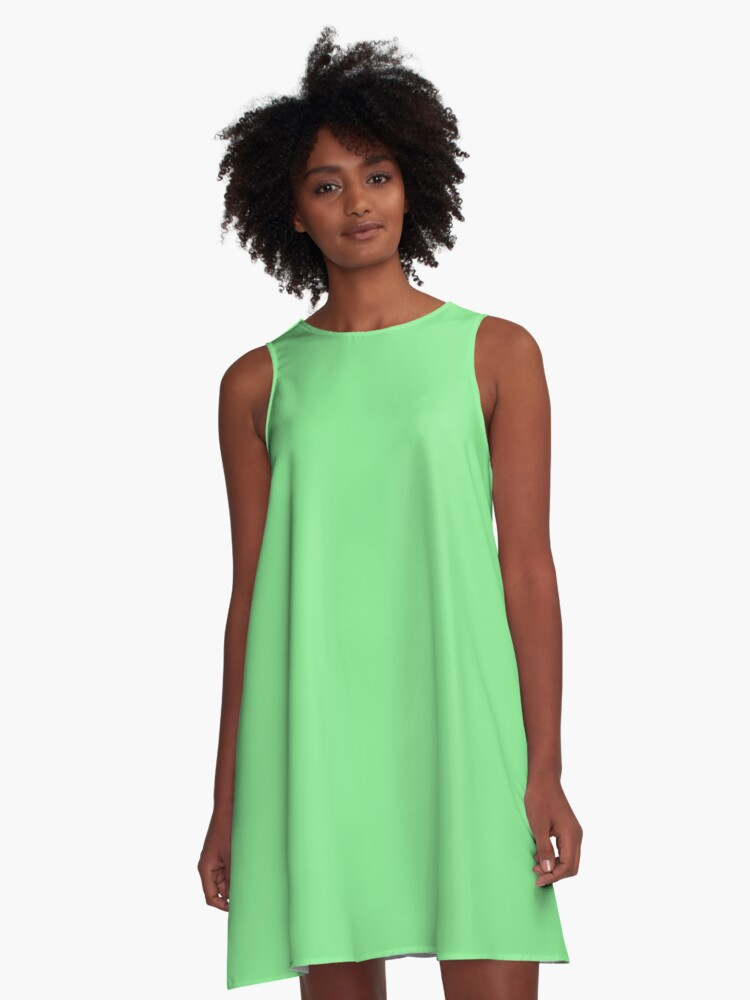 Green jade A-Line Dress Front